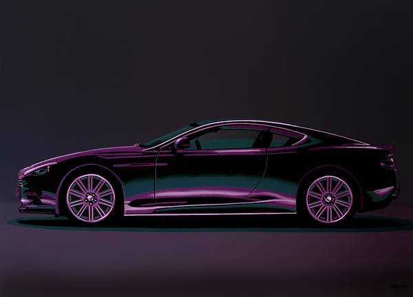 Wall Art - Painting - Aston Martin Dbs V12 2007 Painting by Paul Meijering