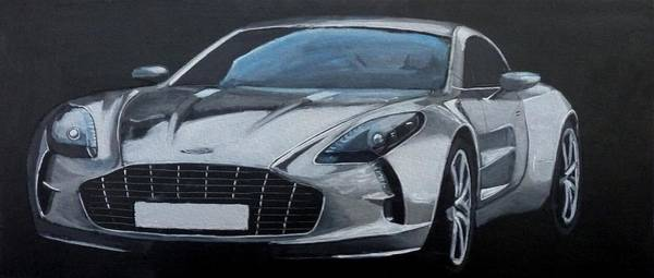 Painting - Aston Martin One-77 by Richard Le Page