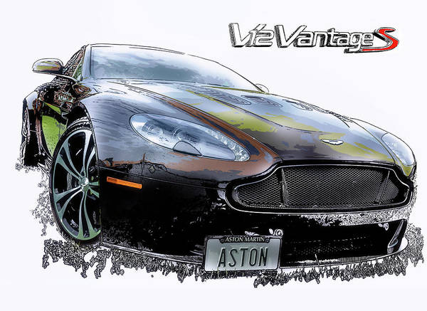 Wall Art - Photograph - Aston Martin V12 Vantage S by Larry Helms