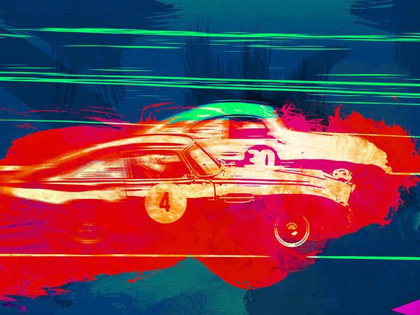 Wall Art - Painting - Aston Martin Vs Porsche by Naxart Studio