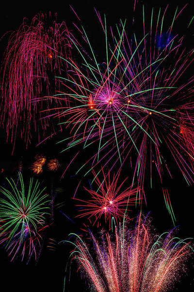 Dazzle Wall Art - Photograph - Astonishing Fireworks by Garry Gay