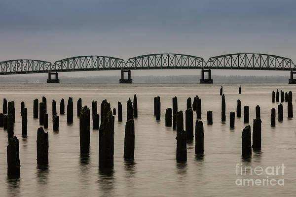 Photograph - Astoria Bridge And Pilings by Patti Schulze