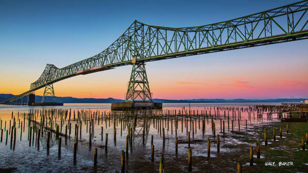 Astoria Bridge Photograph - Astoria Megler Bridge by Walt Baker