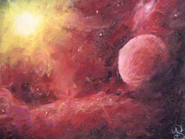 Dark Pink Drawing - Astro Awakening by Jen Shearer