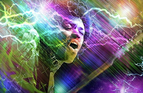 Purple Haze Digital Art - Astro Man by Mal Bray
