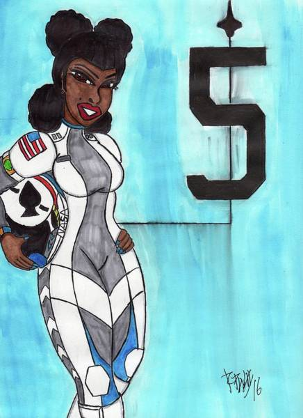 Space Exploration Mixed Media - Astro Vixen by Ronald Woods