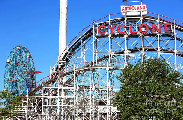 Photograph - Astroland Park Rides Coney Island by John Rizzuto