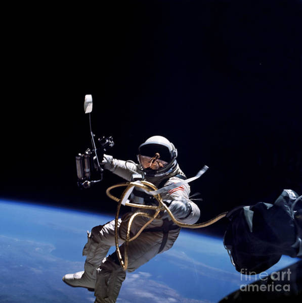 Photograph - Astronaut Floats In Space by Stocktrek Images
