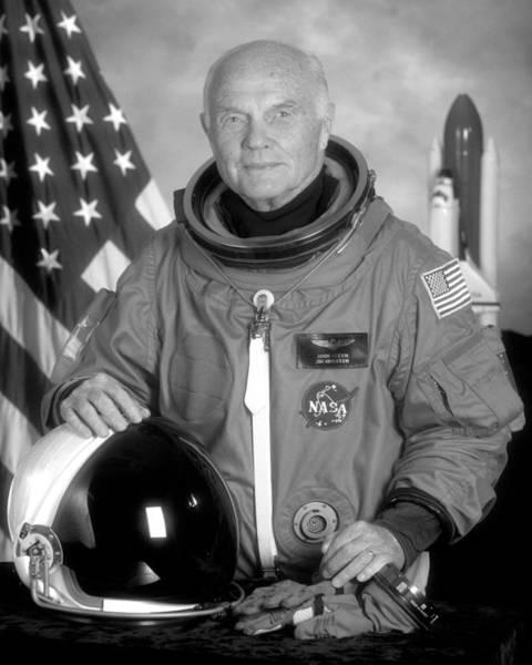 Professions Photograph - Astronaut John Glenn - 1998 by War Is Hell Store