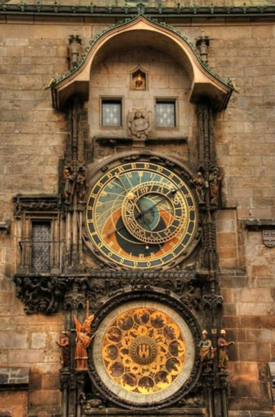 Photograph - Astronomical Clock by Digital Art Cafe