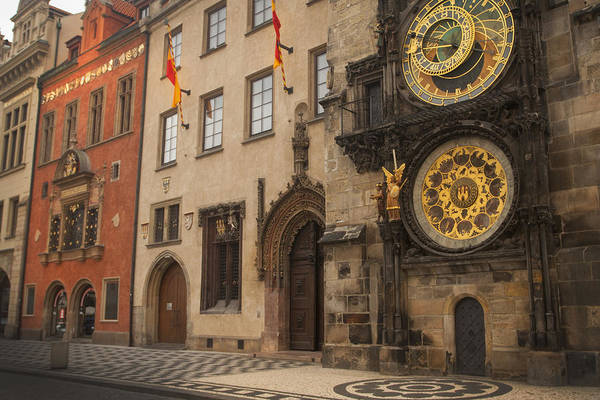 Astronomical Clock In Old Prague Art Print