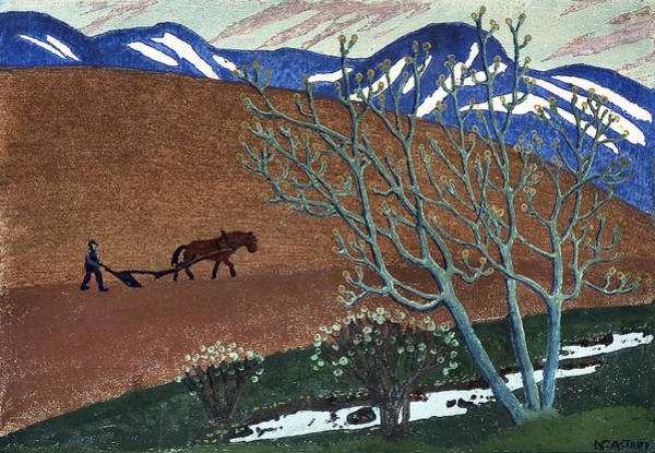 Nikolai Astrup Painting - Astrup, Nikolai 1880-1928 The Plough Night by Artistic Rifki