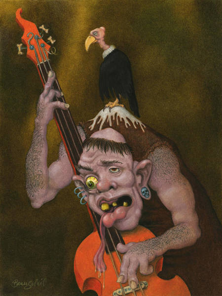 Surrealism Mixed Media - Asymmetrical Basslines by Bobby Beausoleil