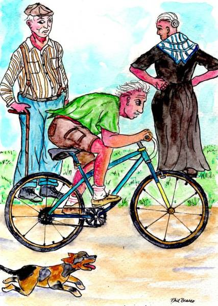 At 74 Years Old I Got My First Bike  Art Print