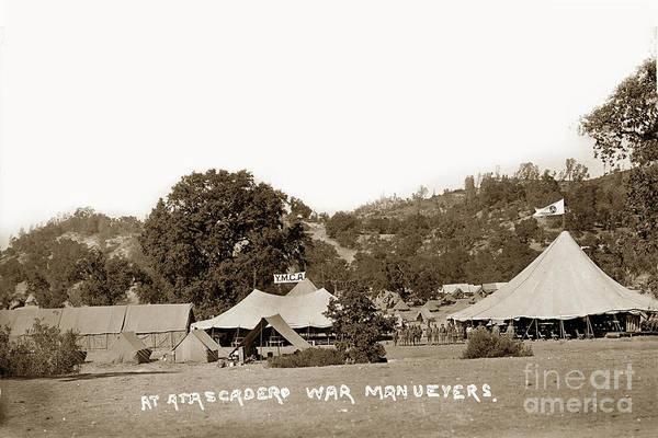 Photograph - At Atascadero War Manuevers Circa 1915 by California Views Archives Mr Pat Hathaway Archives