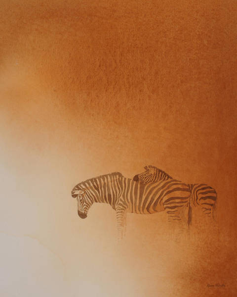 Zebra Painting - At Ease by Alison Nicholls