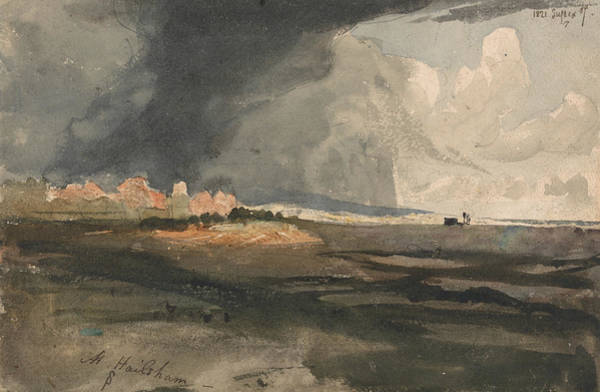Painting - At Hailsham, Sussex - A Storm Approaching by Samuel Palmer