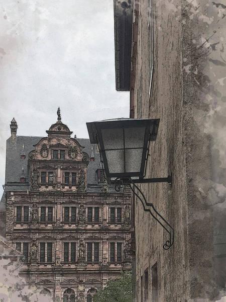 Digital Art - At Heidelberg Castle by Gina Harrison