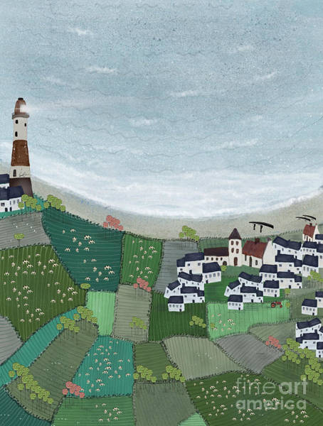 Lighthouse Painting - At Home By The Sea  by Bri Buckley