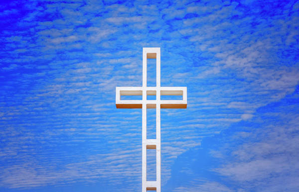 Mount Soledad Wall Art - Photograph - Cross In The Sky by Joseph S Giacalone