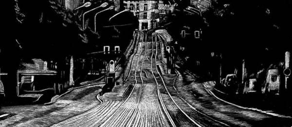 Drawing - At Night Everybody Sleeps  Ludwig Wucherer Strasse by Sophie Mildner