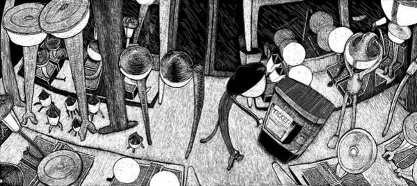 Drawing - At Night Everybody Sleeps  Tram by Sophie Mildner