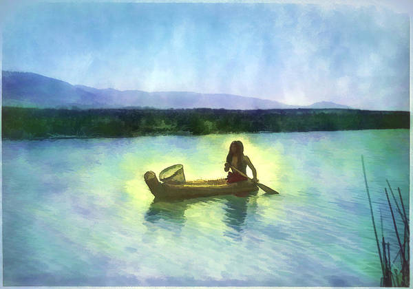 At Peace On The Water Art Print