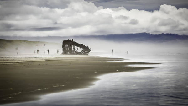 Oregon Sand Dunes Photograph - At Peter Iredale Shipwreck by Eduard Moldoveanu
