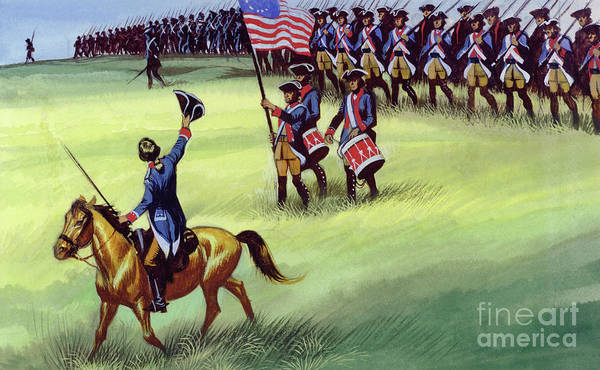 Surrendering Painting - At Saratoga The Colonists Won Victory by Ron Embleton