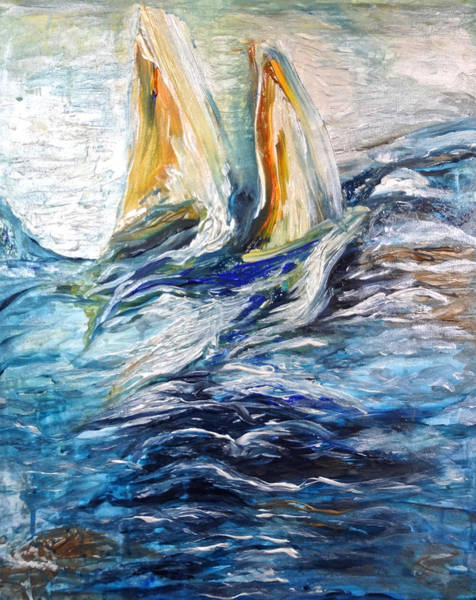 Painting - At Sea by Michelle Pier