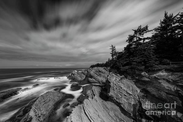Hard Rock Photograph - At Shore Acres State Park, Oregon by Masako Metz