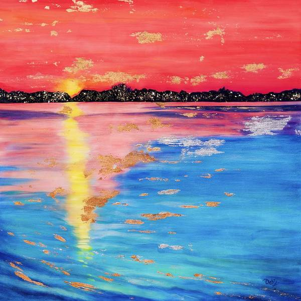 Wall Art - Painting - At Sunset by Debi Starr