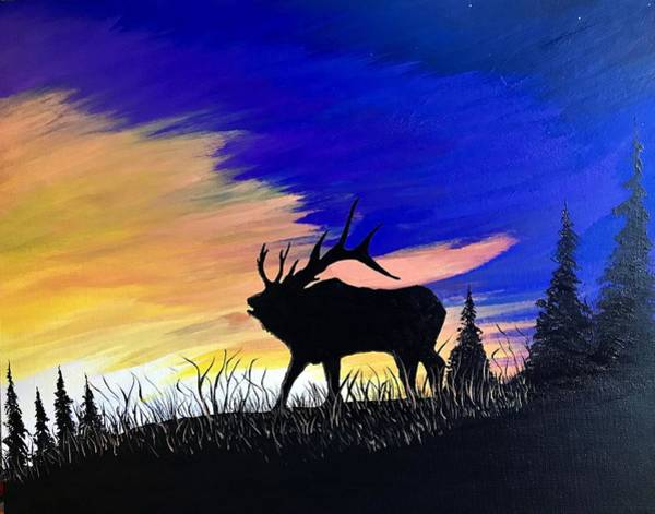 Wall Art - Painting - At Sunset by Willy Proctor