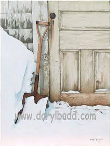 Back Door Painting - At The Back Door by Daryl Budd