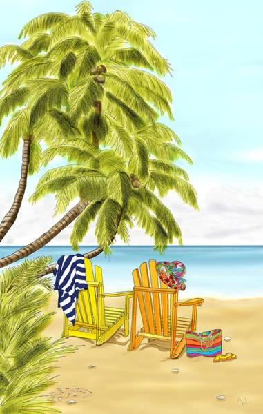 New Smyrna Beach Digital Art - At The Beach by Deni Kroening