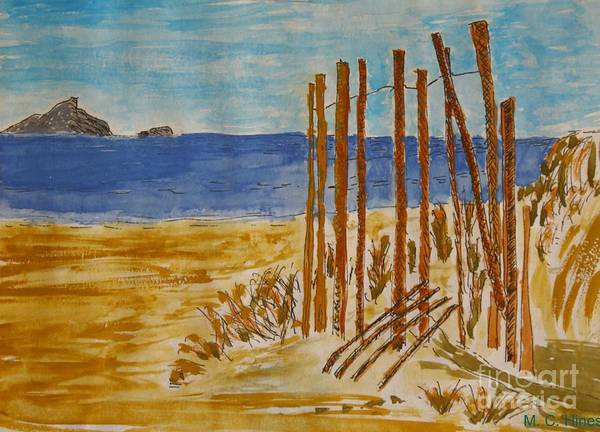 Wall Art - Painting - At The Beach by Mary Chris Hines