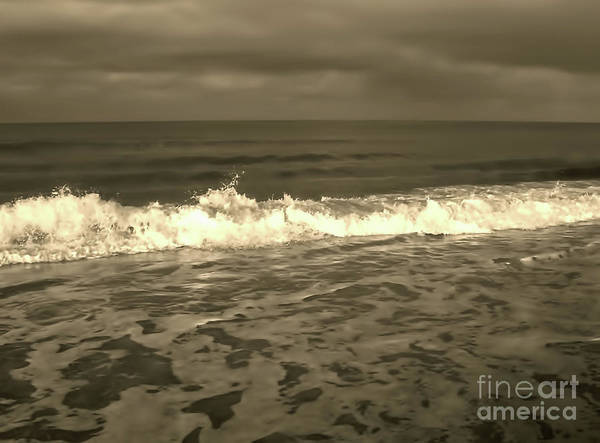 Photograph - At The Beach Sepia by D Hackett
