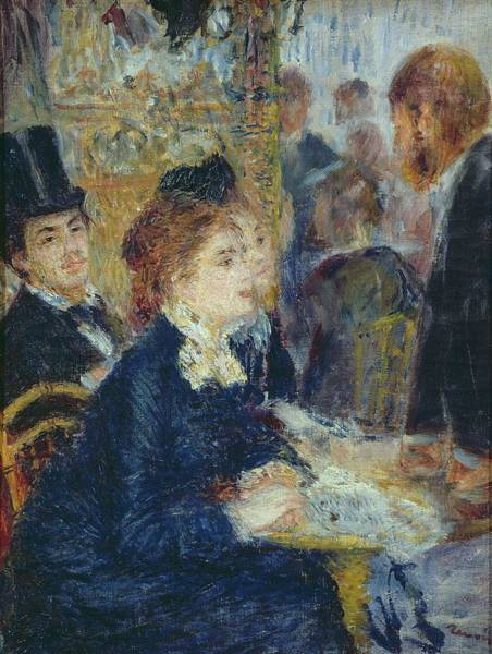 Wall Art - Painting - At The Cafe by Pierre Auguste Renoir