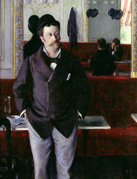 Wall Art - Painting - At The Cafe Rouen by Gustave Caillebotte
