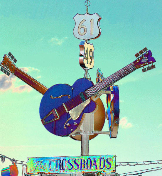 B B King Wall Art - Photograph - At The Crossroads by Karen Wagner