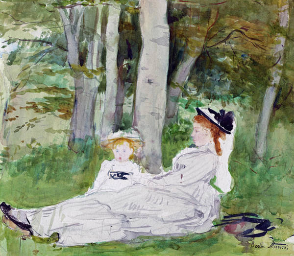 Painting - At The Edge Of The Forest  by Berthe Morisot