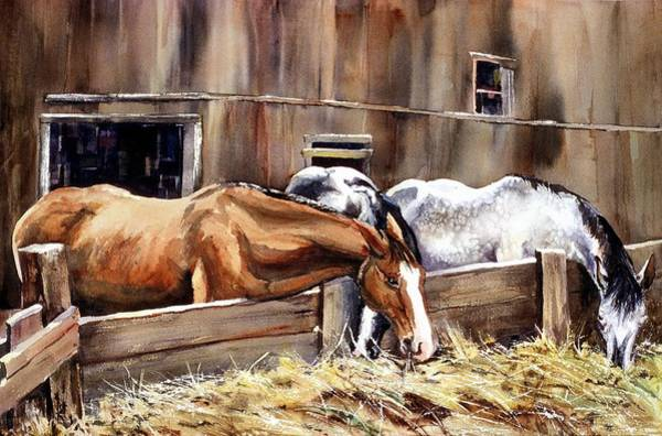 At The Feed Bank Art Print
