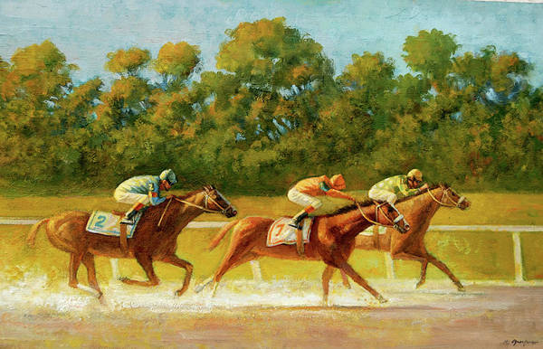 Painting - At The Finish Line by Mel Greifinger