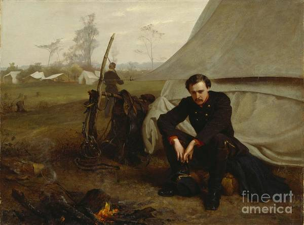 Thoughts Painting - At The Front by George Cochran Lambdin