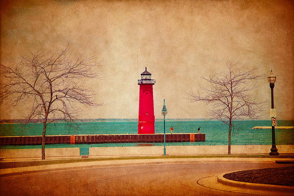 At The Harbor Art Print