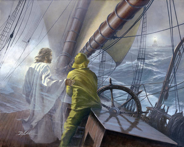 Wall Art - Painting - At The Helm  by Danny Hahlbohm