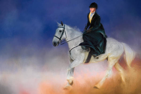 Painting - At The Horse Show 2 by Jai Johnson