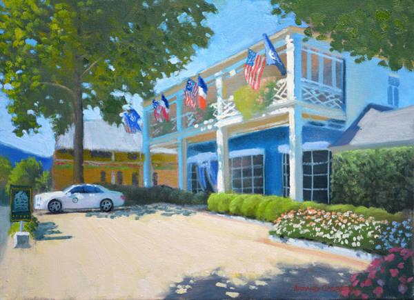 Wall Art - Painting - At The Inn by Armand Cabrera