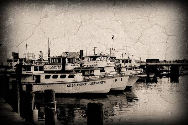 Down The Shore Photograph - At The Marina - Jersey Shore by Angie Tirado