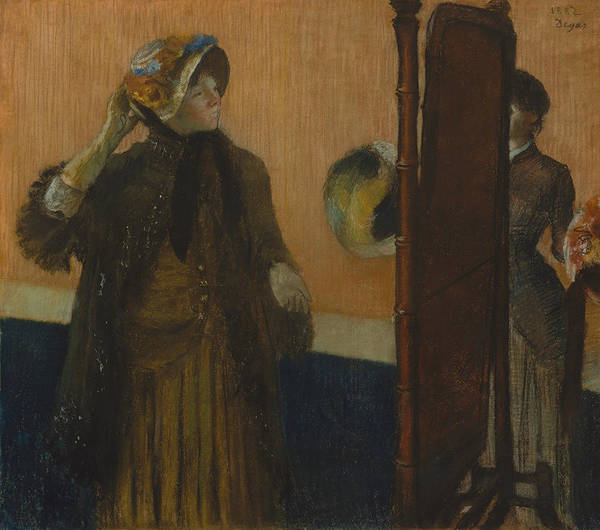 Pastel - At The Milliner's, 1882 by Edgar Degas